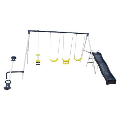 "Flexible Flyer ""Swing Around Fun"" Steel Swing Set - Midnight Blue"
