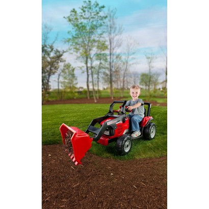 Peg Perego 12 Volt Case IH Power Scoop - Red