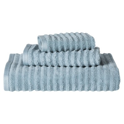 Threshold™ Textured 3-pc. Towel Set - Fountain Blue