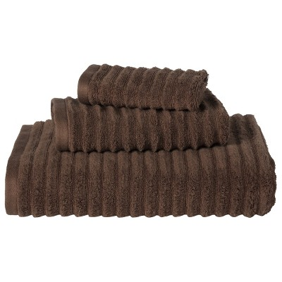 Threshold™ Textured 3-pc. Towel Set - Dark Brown