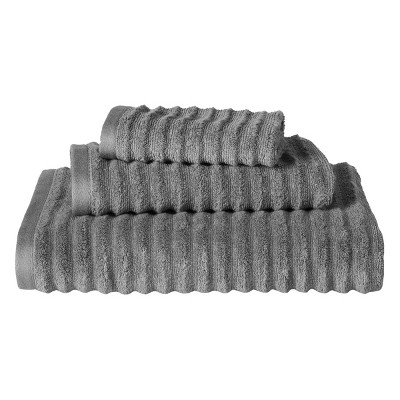 Threshold™ Textured 3-pc. Towel Set - Radiant Gray