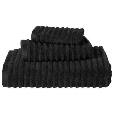 Threshold™ Textured 3-pc. Towel Set - Ebony