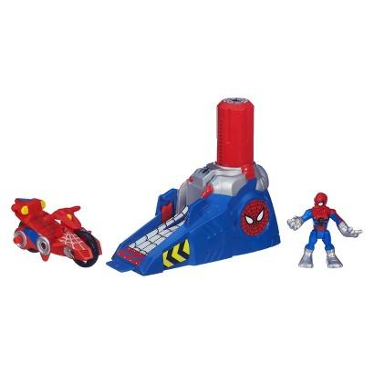 Playskool Heroes Spider-Man Adventures Action Figure Racing Spider-Man Launcher