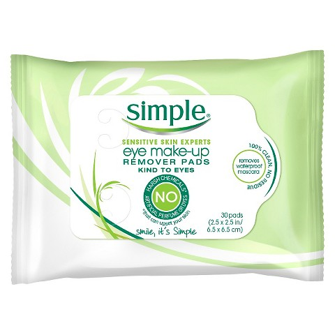 Simple Eye Make-Up Remover Pads 30 ct