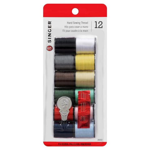 Singer 12-pk Thread - Assorted Colors
