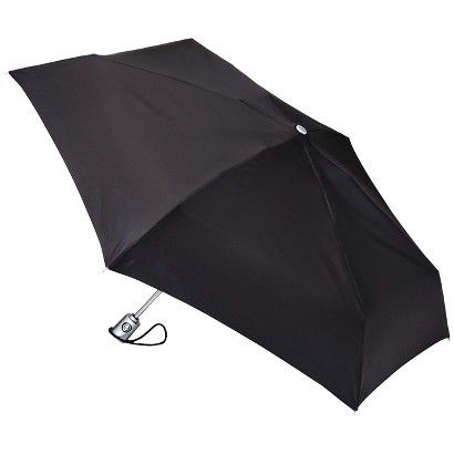 totes Mini Auto Open Umbrella - Black