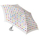 totes Mini Auto Open/Close Umbrella - White Dot