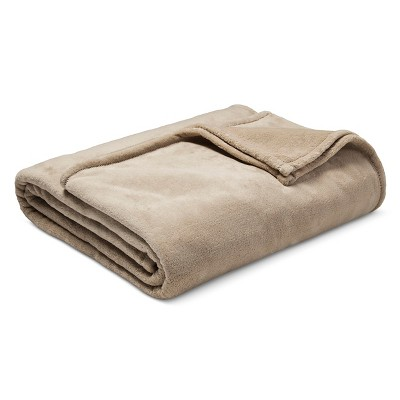 Threshold™ Microplush Blanket - Khaki (Full/Queen)