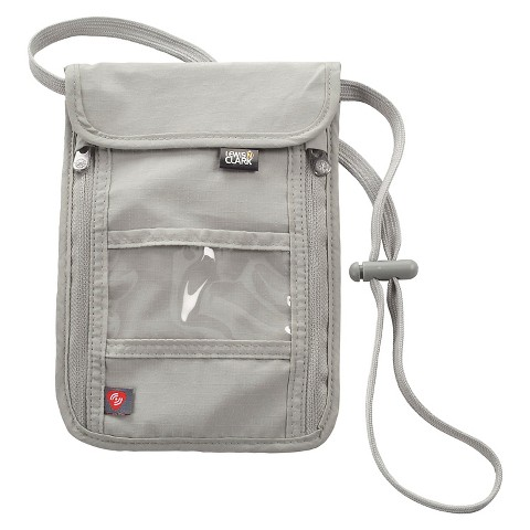 Lewis N. Clark RFID Waist And Neck Stash Travel Security - Grey