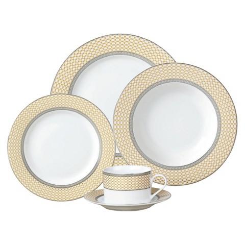 American Atelier 20 Piece Dinnerware Set - Cream Buckingham
