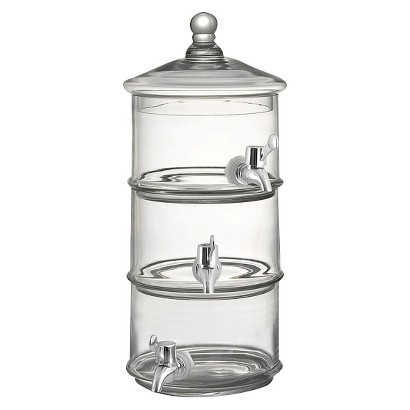 Fifth Avenue Crystal Royal Glass 3-Level Beverage Dispenser - Clear