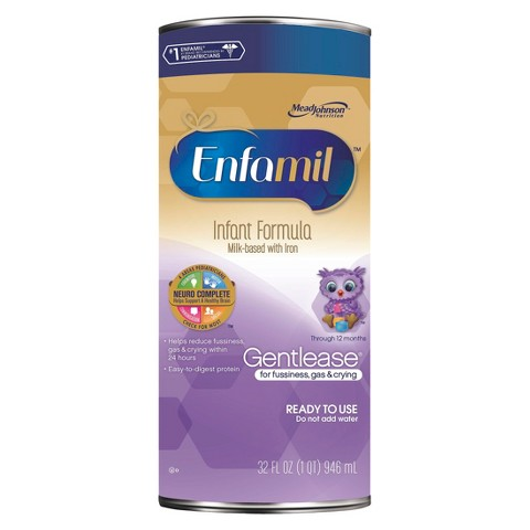 Enfamil Gentlease Ready to Use Cans 32oz - 6 count