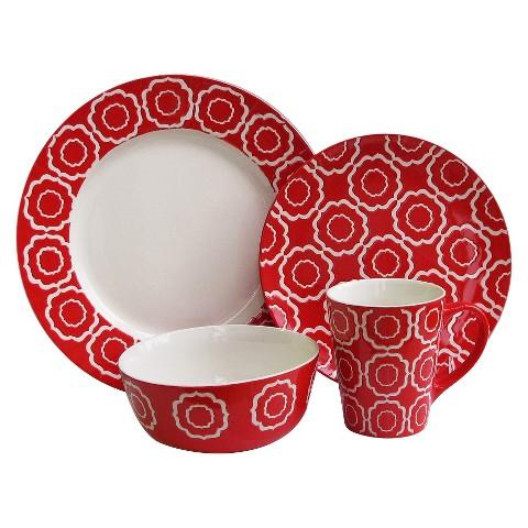 American Atelier 16 Piece Trellis Dinnerware Set
