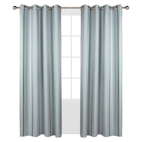 "Outdoor Décor Gazebo Stripe Indoor/Outdoor Curtain Panel - Rainbow (50""x96"")"