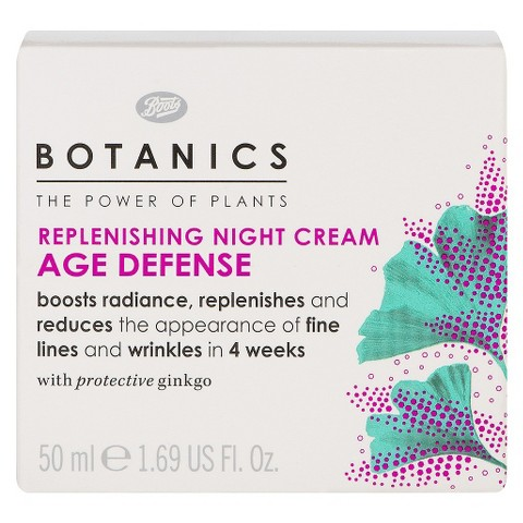 Boots Botanics Age Defense Replenishing Night Cream - 1.69 oz