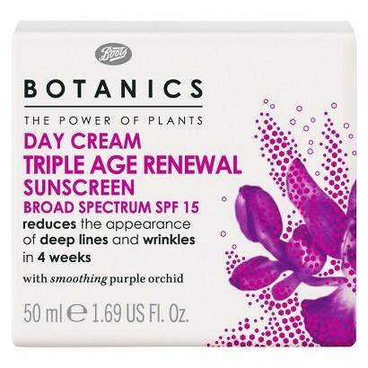 Boots Botanics Triple Age Renewal Day Cream SPF15 - 1.69 oz