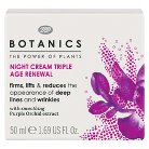 Boots Botanics Triple Age Renewal Night Cream - 1.69 oz