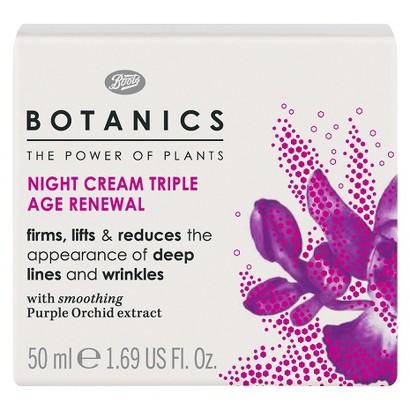 Boots Botanics Triple Age Renewal Night Cream - 1.69 oz