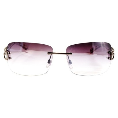 Rimless Rectangle Sunglasses - Gunmetal