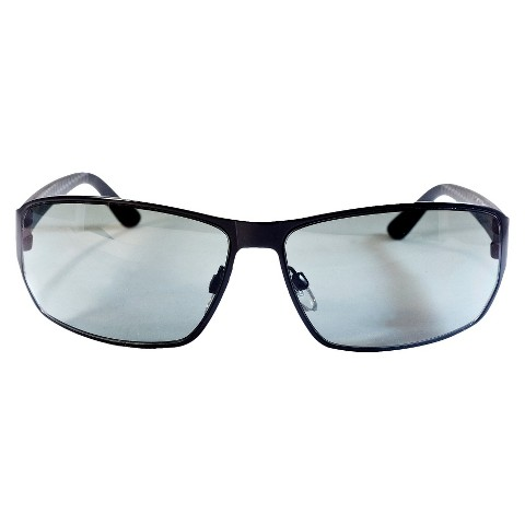 Flat Metal Rectangle Sunglasses - Black