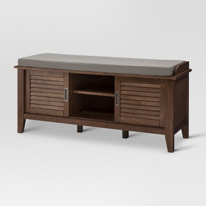 Threshold Storage Bench With Slatted Doors Target