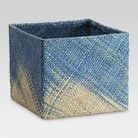 Threshold™ Seagrass Fabric Cube Set of 2 - Blue Large