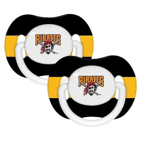 Pittsburgh Pirates Pacifiers Team Color Double 2pk