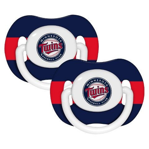 Minnesota Twins Pacifiers Team Color Double 2pk
