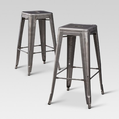 Carlisle Metal Bar Stool - Set of 2