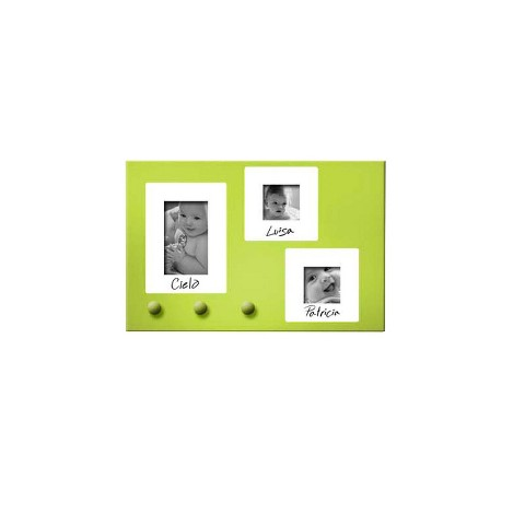 Over-the-Door Magnetic Message Center Organizer - Green