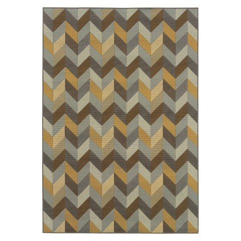 Heidi Chevron Indoor Outdoor Rug Tar
