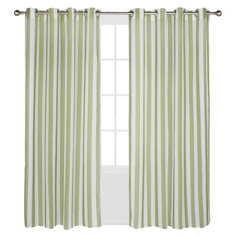 Outdoor Decor™ Escape Stripe Indoor/Outdoor Grommet Top Sheer Curtain Panel