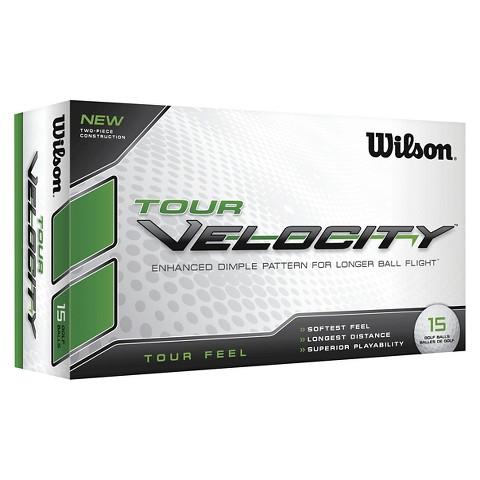 Wilson Tour Velocity Feel Golf Ball - 15-Ball-Pack