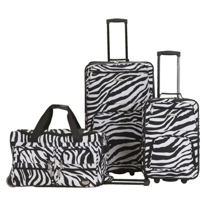 Rockland Spectra 3-pc .Expandable Rolling Luggage Set - Zebra