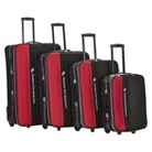 Rockland Polo Explorer 4-pc. Luggage Set - Red