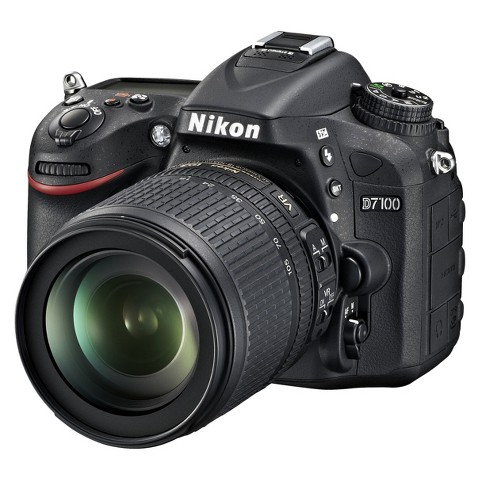 Nikon D7100 24.1MP Digital SLR Camera with 18-105mm Lens - Black