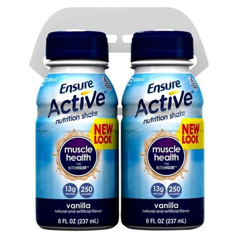 Ensure® Active™ Muscle Health Vanilla Nutritional Shake - 4 pack (8fl oz each)