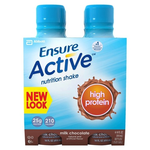 Ensure® Active™ High Protein Chocolate Nutritional Shake - 4 pack (14 fl oz each)