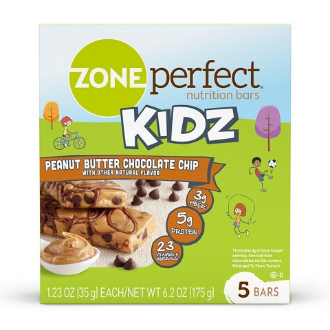 ZonePerfect® Kidz Chocolate Chip Peanut Butter Nutrition Bars - 5 Count