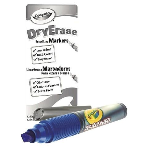 Crayola Dry Erase Blue Marker Pack -  12 Count