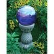 Serpentine Globe Pedestal - Greywash