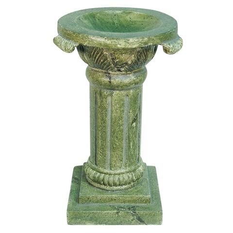 Florentine Globe Pedestal - Natural Stone