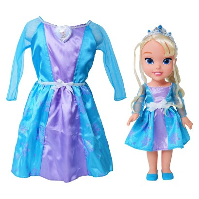 Disney Frozen Elsa Toddler Doll & Dress Combo