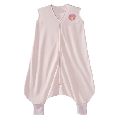 HALO Toddler Girls' SleepSack Lightweight Knit Early Walker - Pink Flower - Large