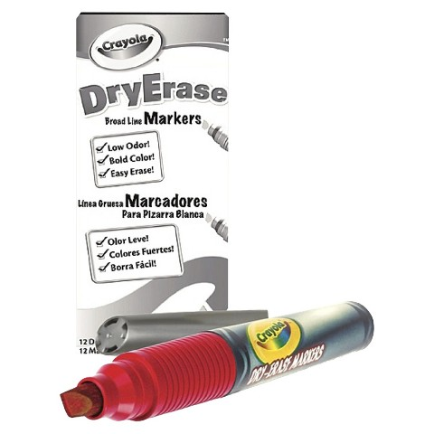 Crayola Dry Erase Red Marker Pack - 12 Count