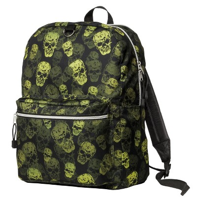 FAB Skulls Print Backpack With Headphones