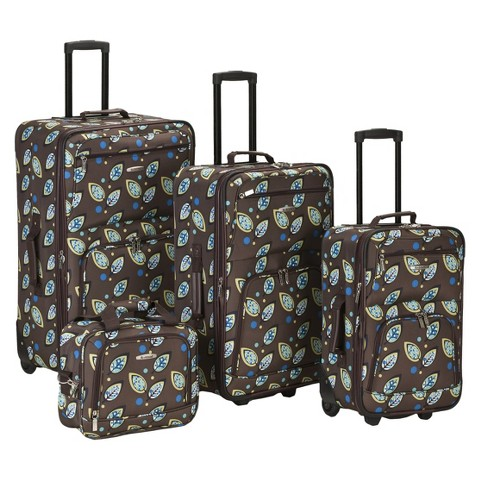 Rockland Nairobi 4-pc Expandable Luggage Set - Brown Leaf