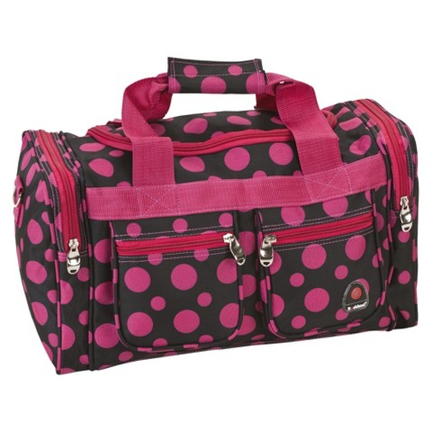 "Rockland 19"" Duffle Bag - Black Pink Dot"