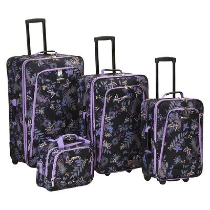 Rockland Reaction 4 pc.Expandable Luggage Set - Garden