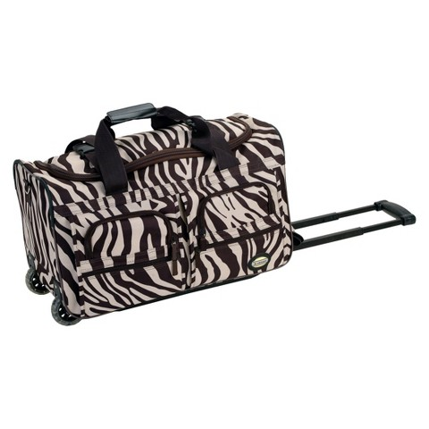 "Rockland 22"" Rolling Duffle Bag - Brown Zebra"